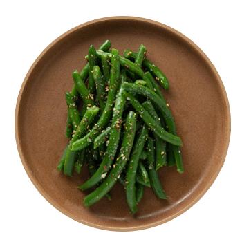 seasoned green beans (serves 2)