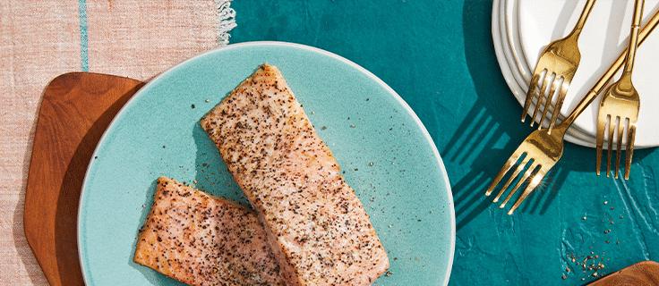 roasted salmon (serves 2)