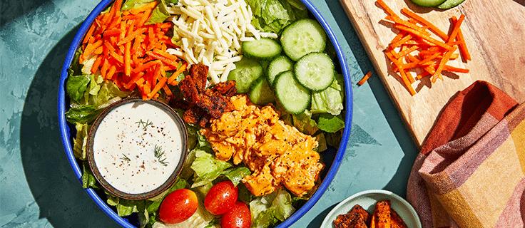 Spicy 'Fried' Chicken Salad