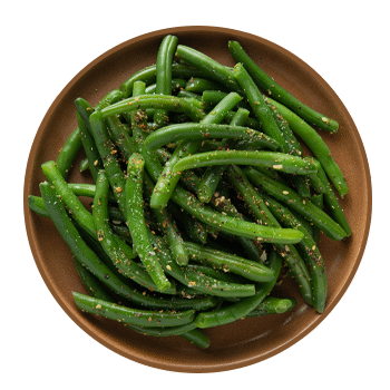 seasoned green beans (serves 3)
