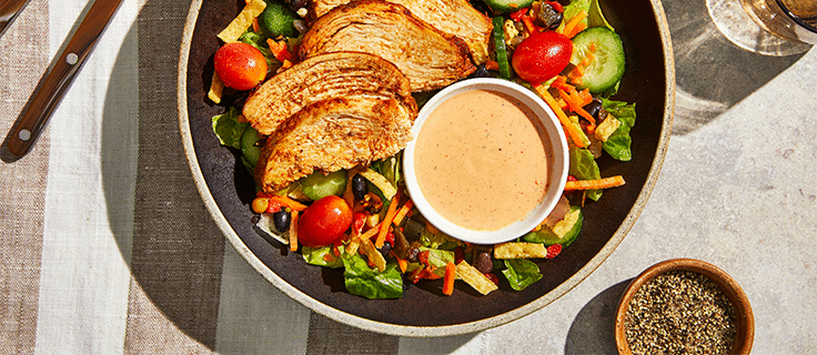 tangy bbq chicken salad